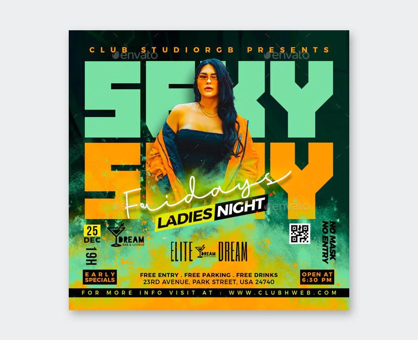 Design Night Club Flyer Template