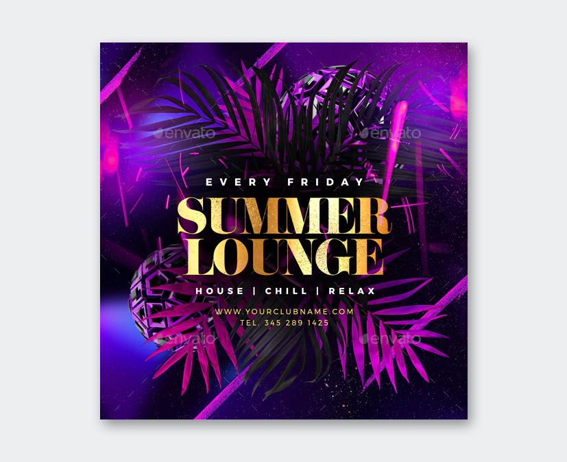 Friday Summer Lounge Flyer Template
