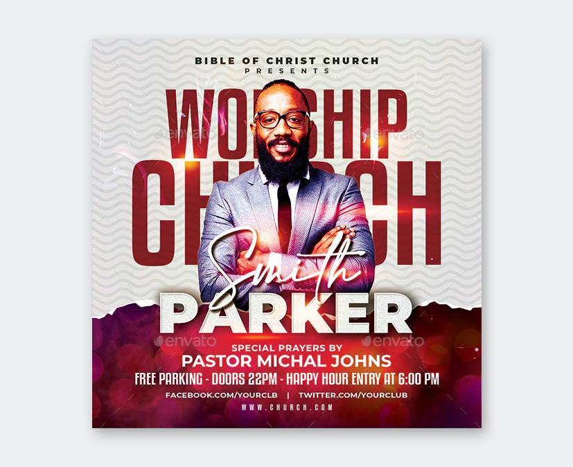 Modern Church Worship Conference Flyer Design