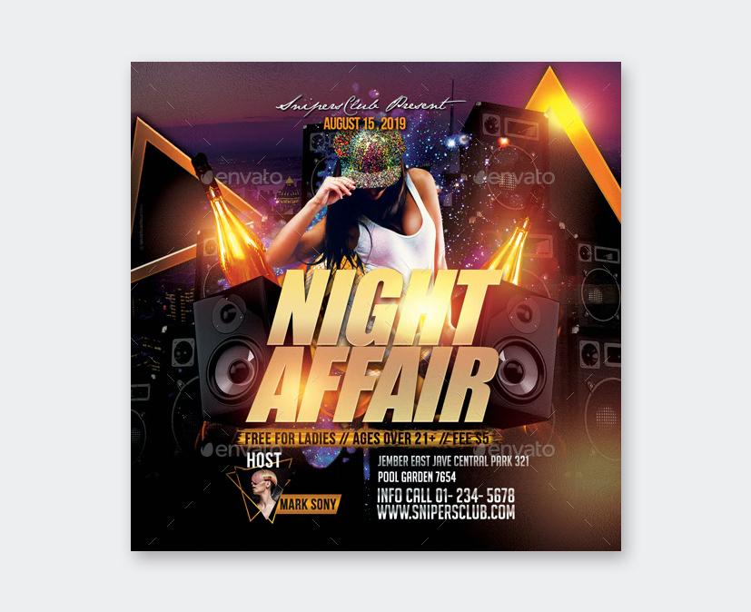 Night Affair Flyer Template