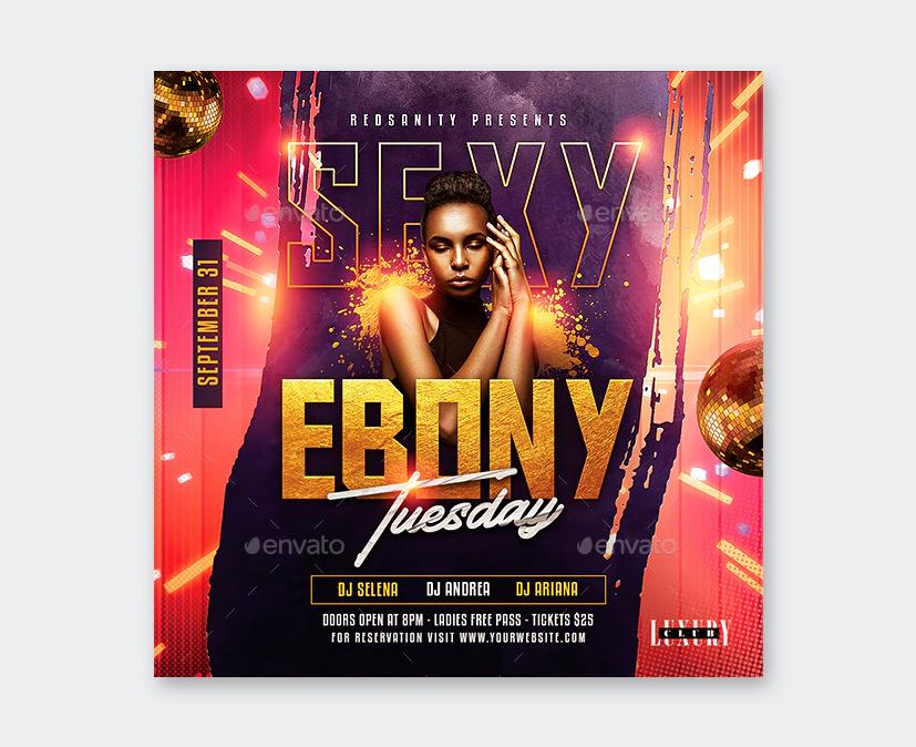 Nightclub Flyer PSD