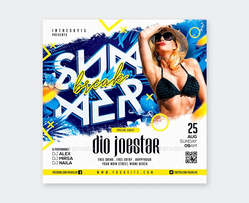Nightclub Summer Party Flyer Template