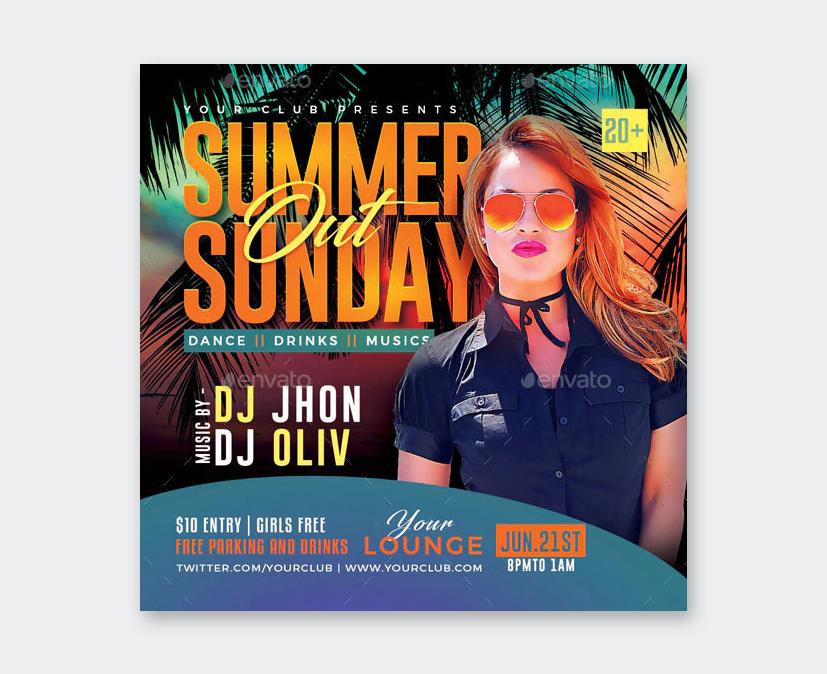 PSD Summer Party Flyer Design