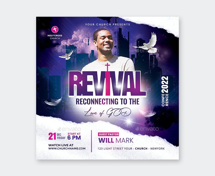 Revival Flyer Template PSD