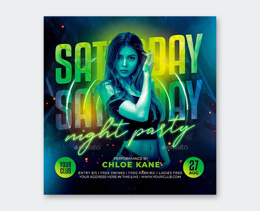 Saturday Night Flyer PSD