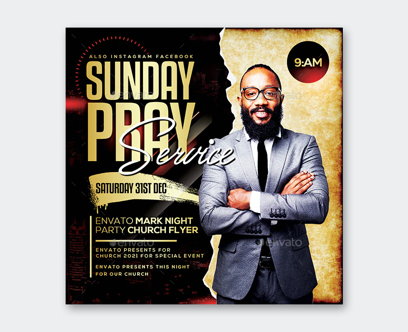 Sunday Prayer Flyer Template