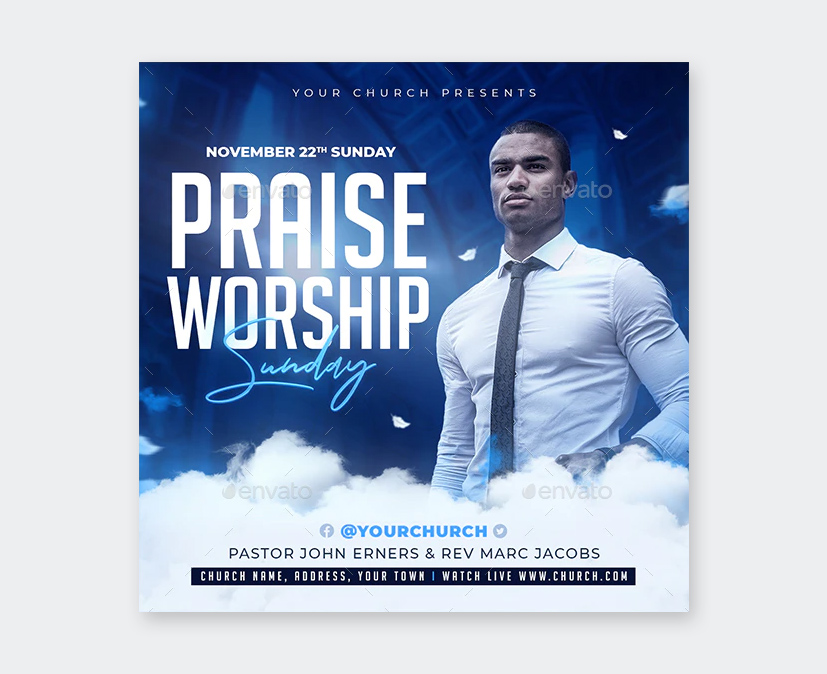 Worship Flyer PSD