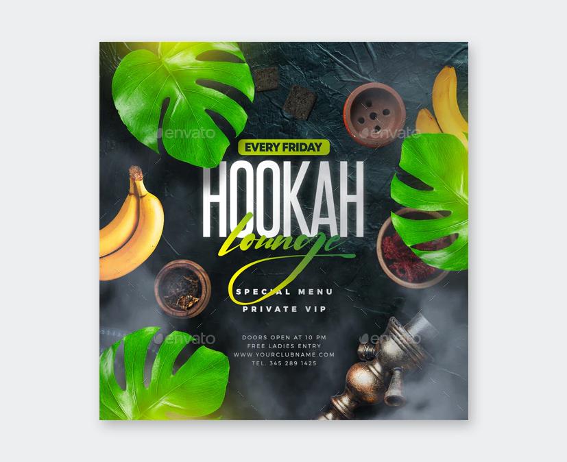 Arabian Hookah Flyer Template