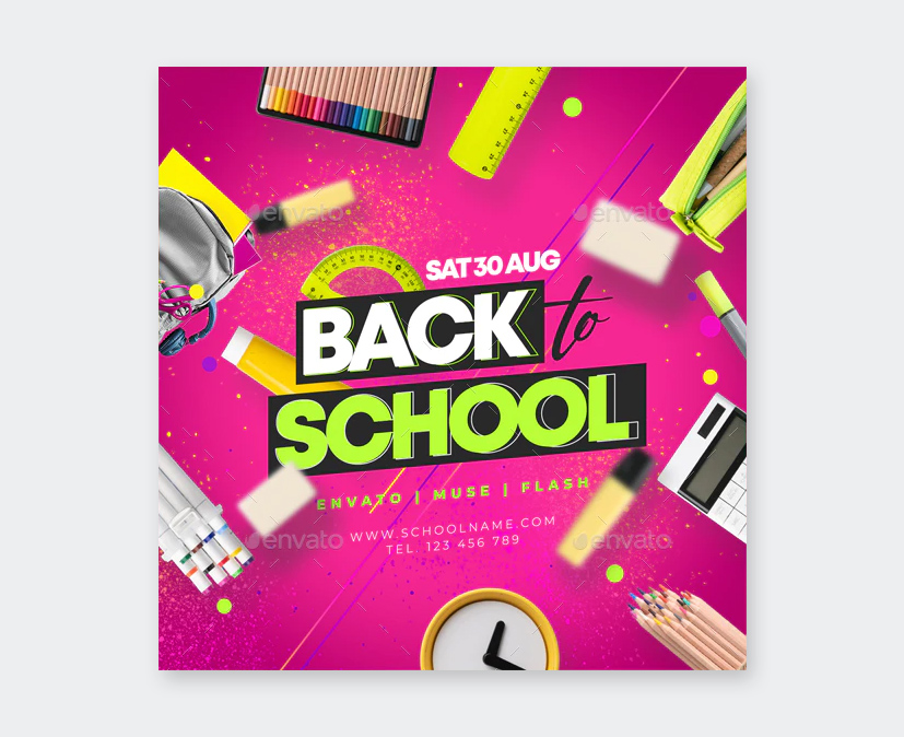 Creative Back To School Flyer PSD