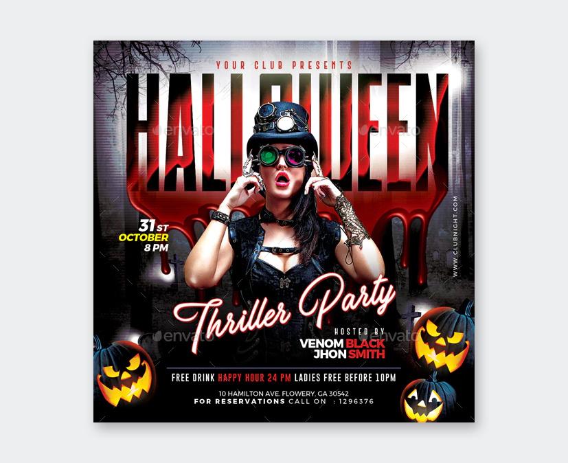 Creative Halloween Flyer Design