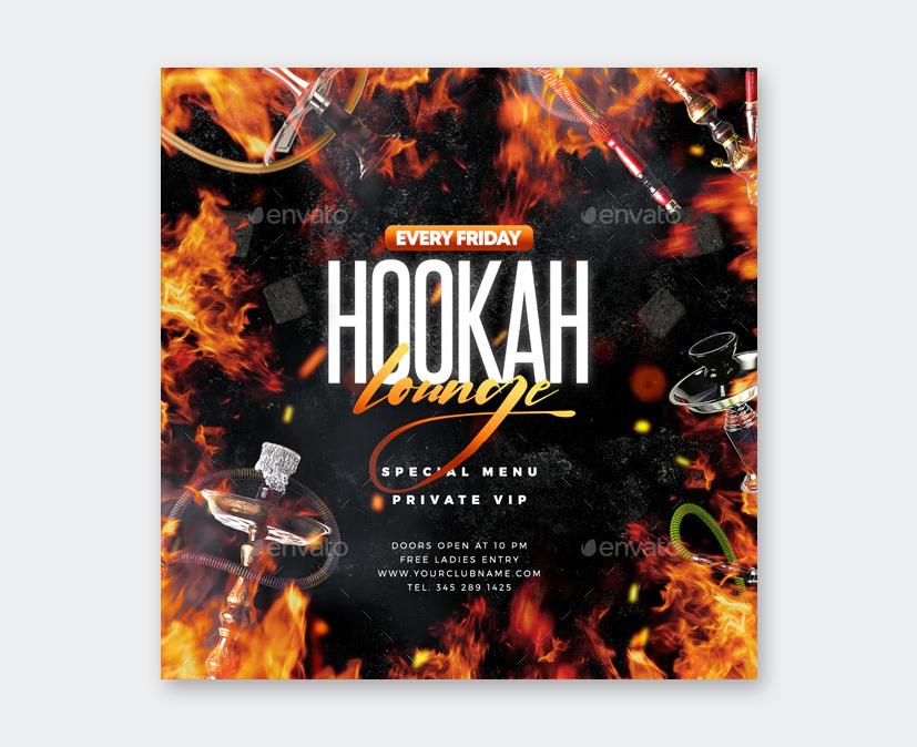 Creative Hookah Lounge Flyer Template