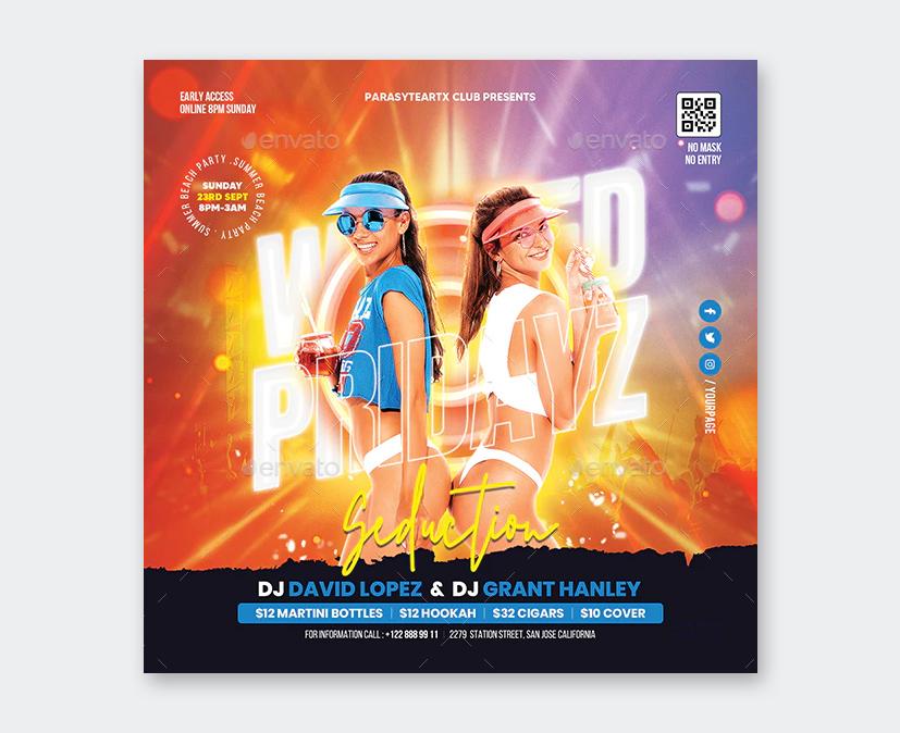 Creative Summer Party Flyer Design