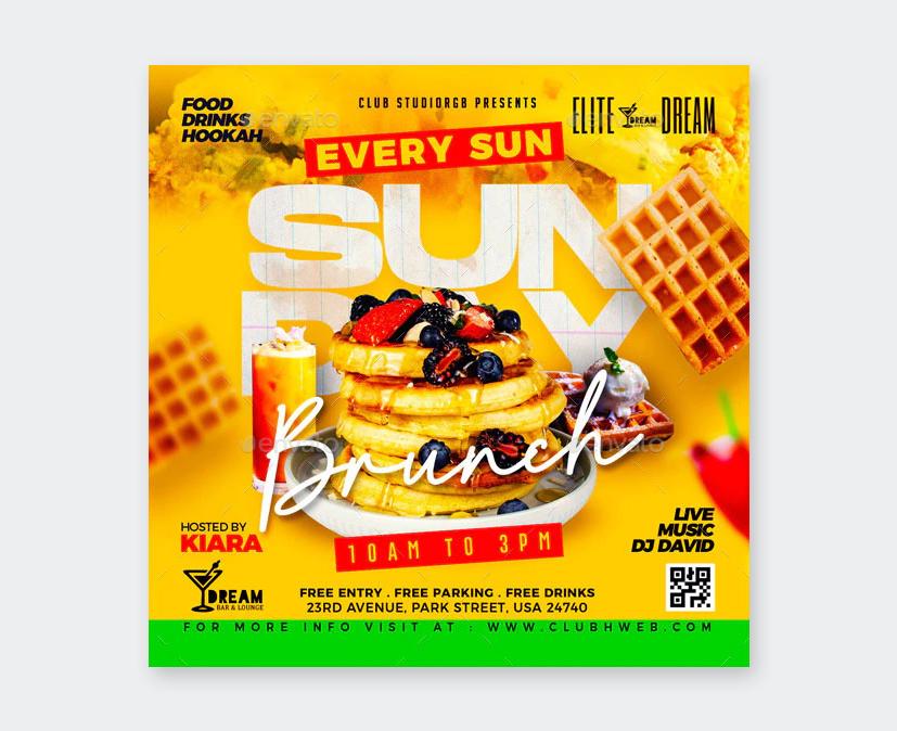 Creative Sunday Brunch Flyer Template