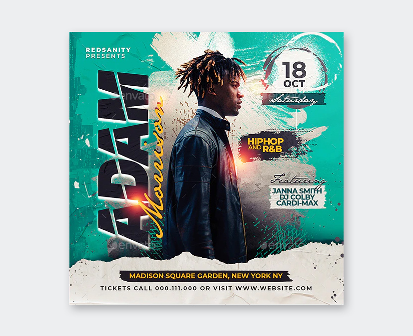 Design DJ Concert Flyer Template