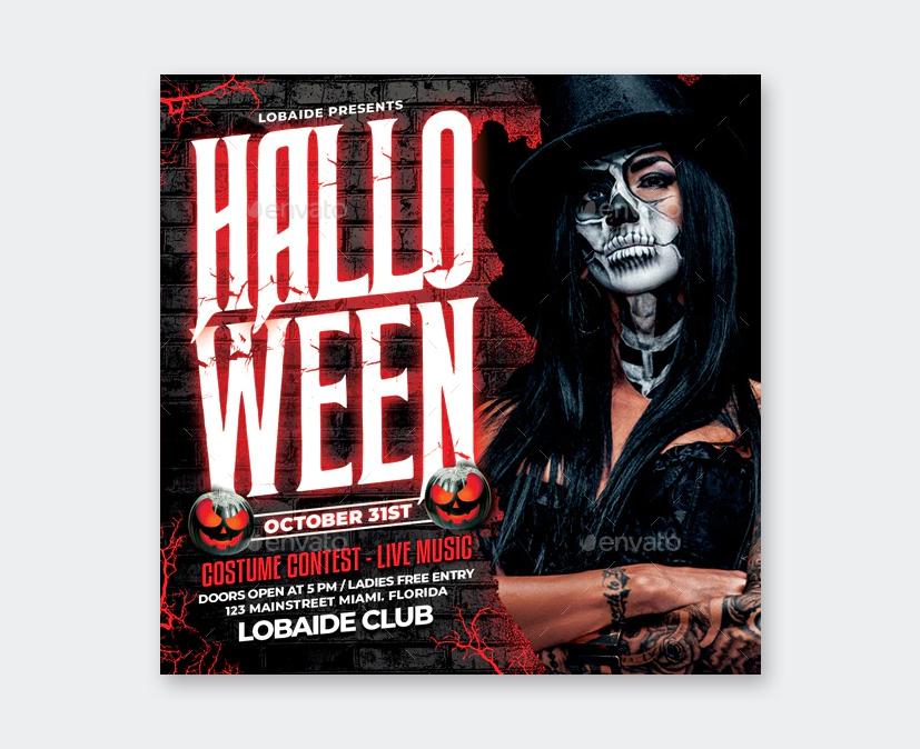 Design Halloween Flyer PSD