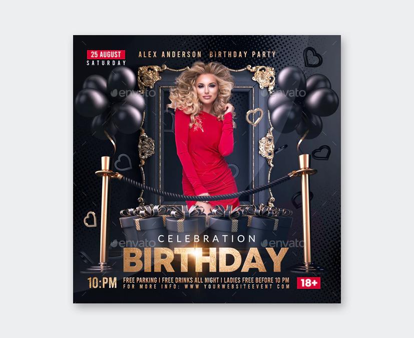 Elegant Birthday Flyer Template