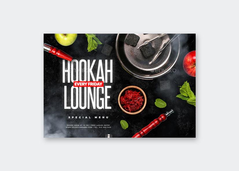 Friday Hookah Lounge Flyer PSD