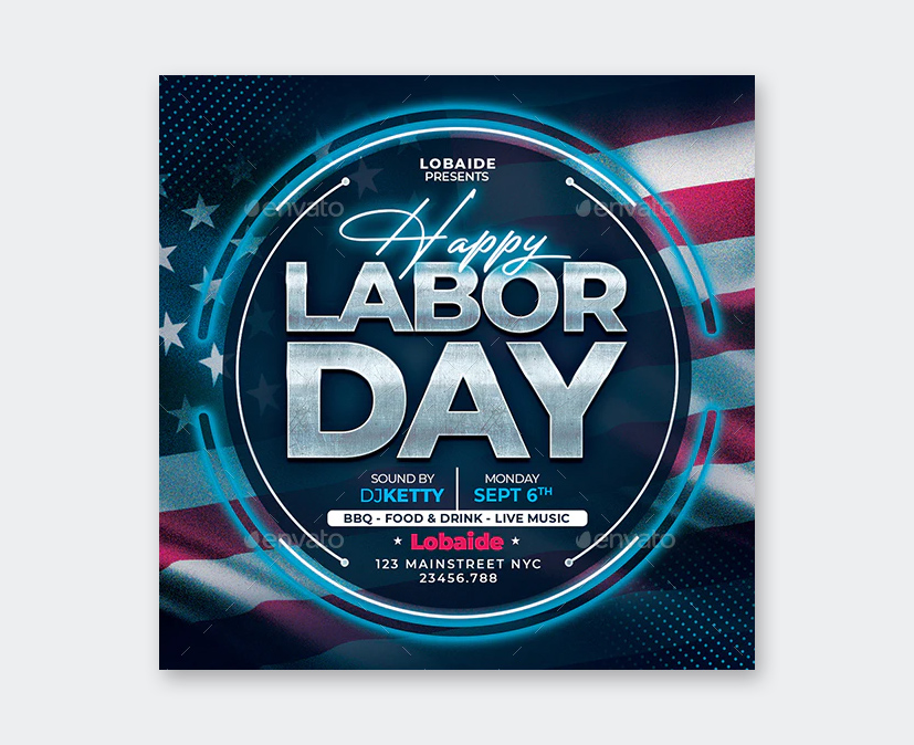 Happy Labor Day Flyer Template