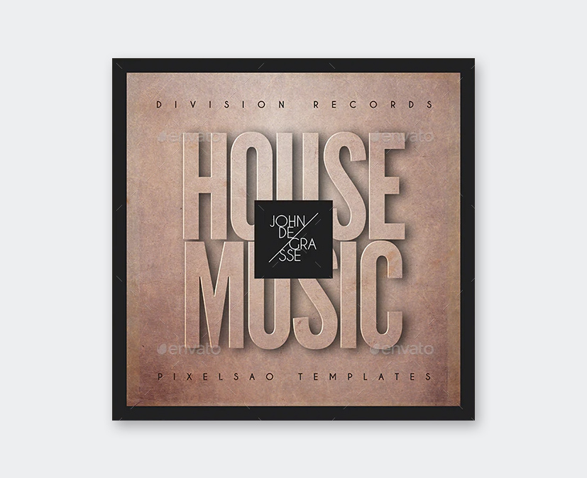 House Music Album Cover Template