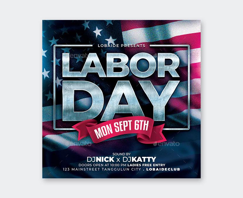 Labor Day Flyer PSD Design