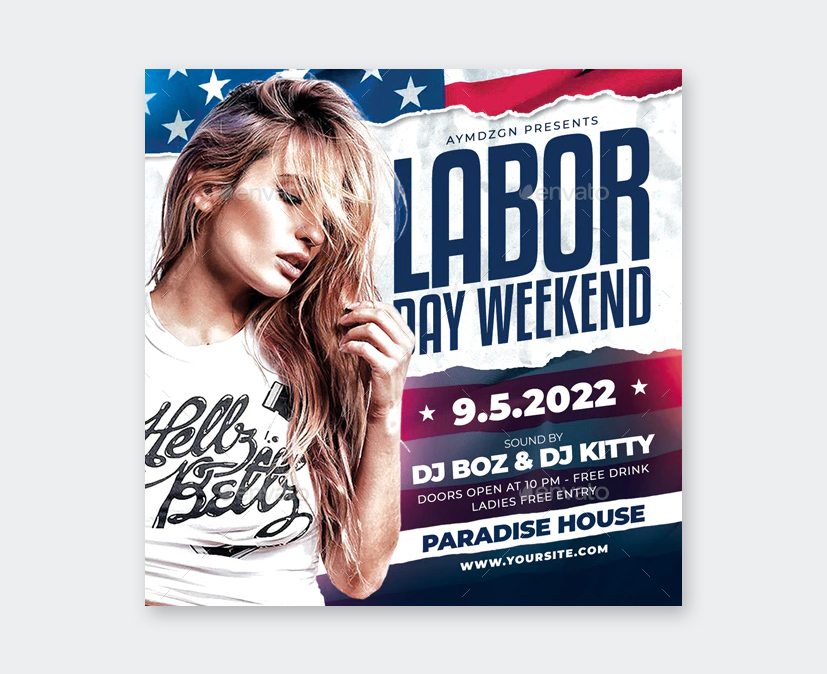Labor Day Weekend Flyer Template