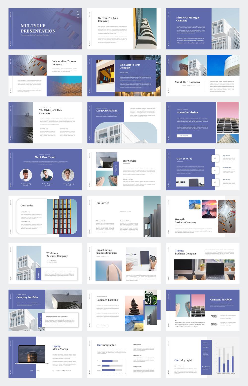 Multipurpose Business PowerPoint Presentation Template