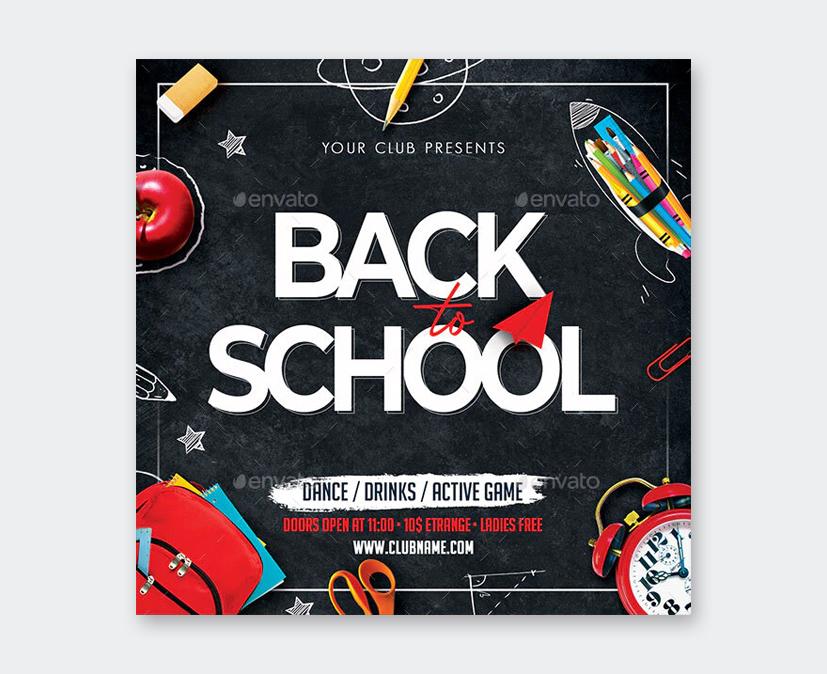 PSD Back To School Flyer Design