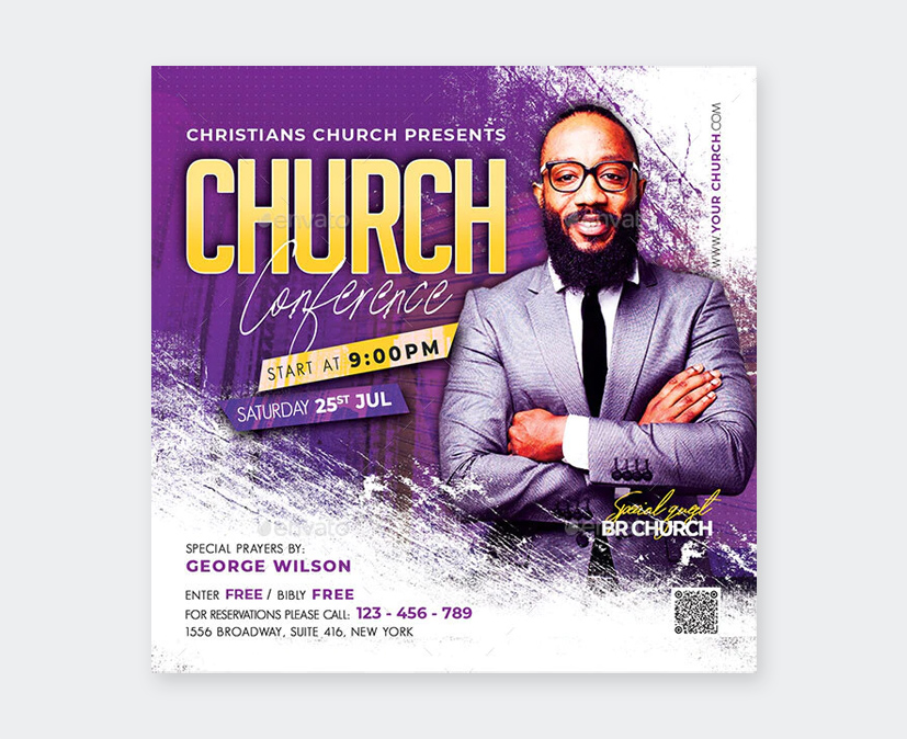 PSD Church Conference Flyer Template