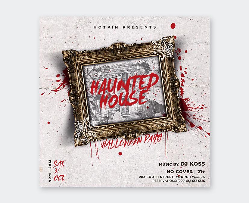 PSD Halloween Flyer Design