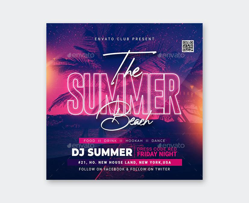 PSD Summer Beach Party Flyer