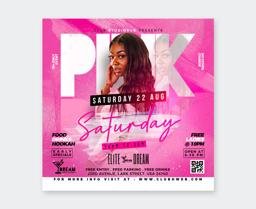 Saturday Night Party Flyer Template