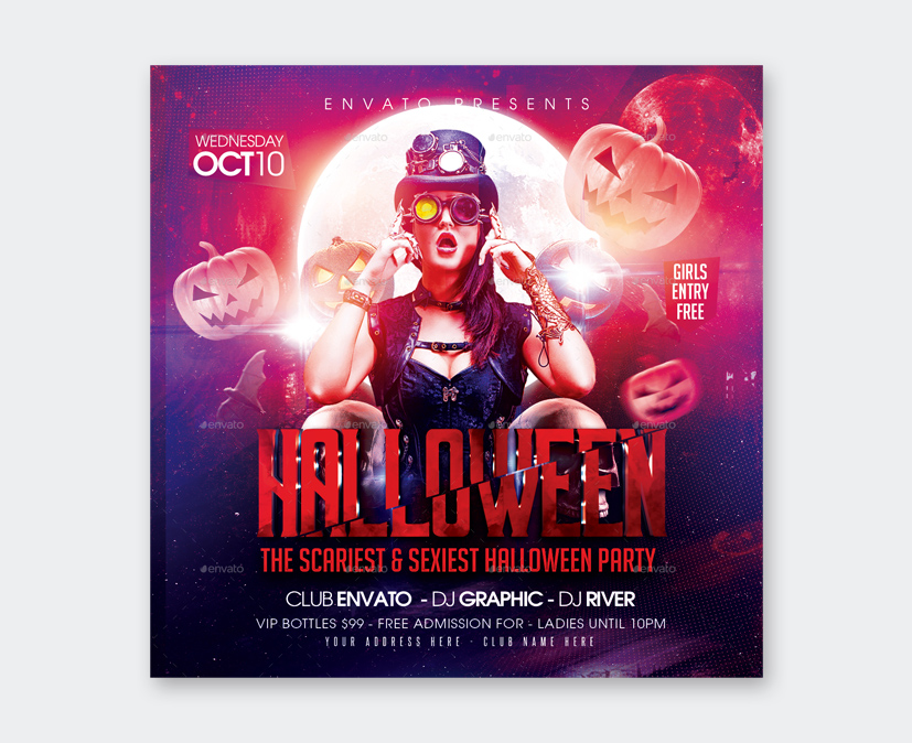Scariest Halloween Party Flyer Design