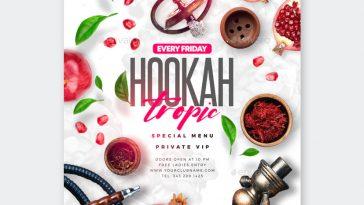 Tropic Hookah Lounge Flyer Design