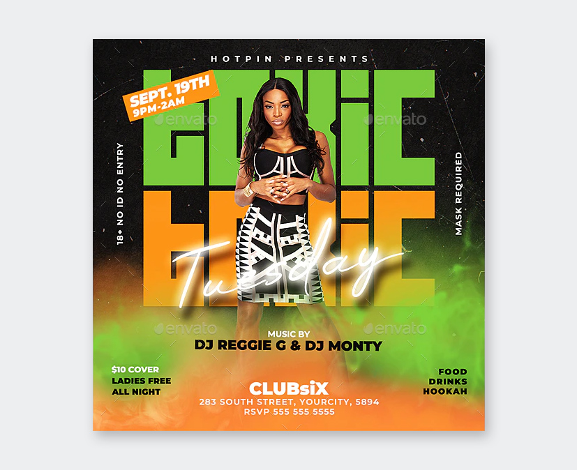 Tuesday Night Party Flyer Template