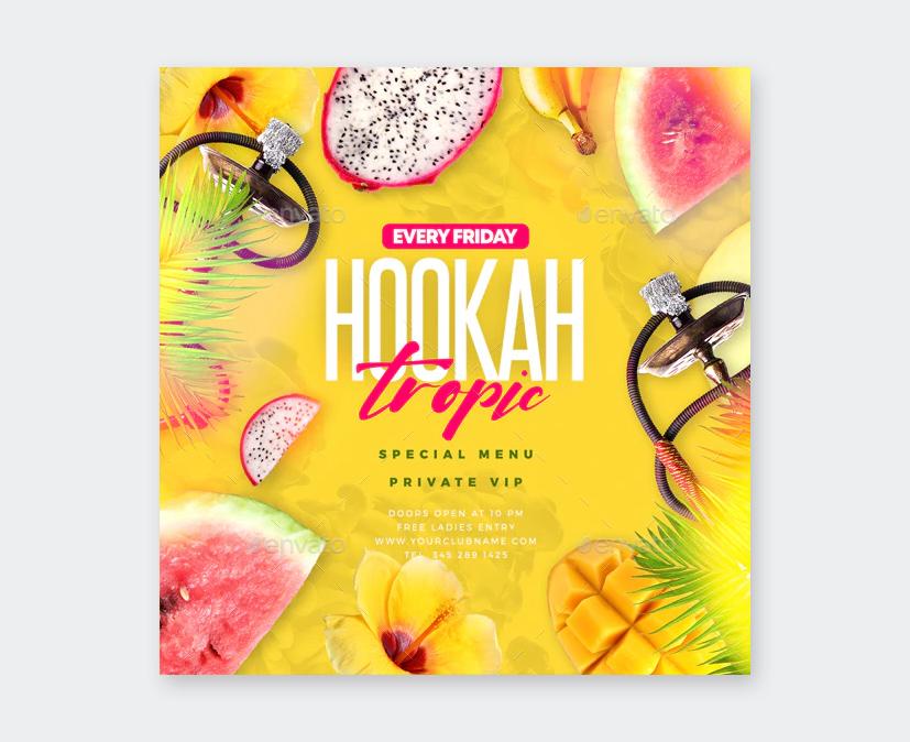 Weekend Hookah Lounge Flyer Design