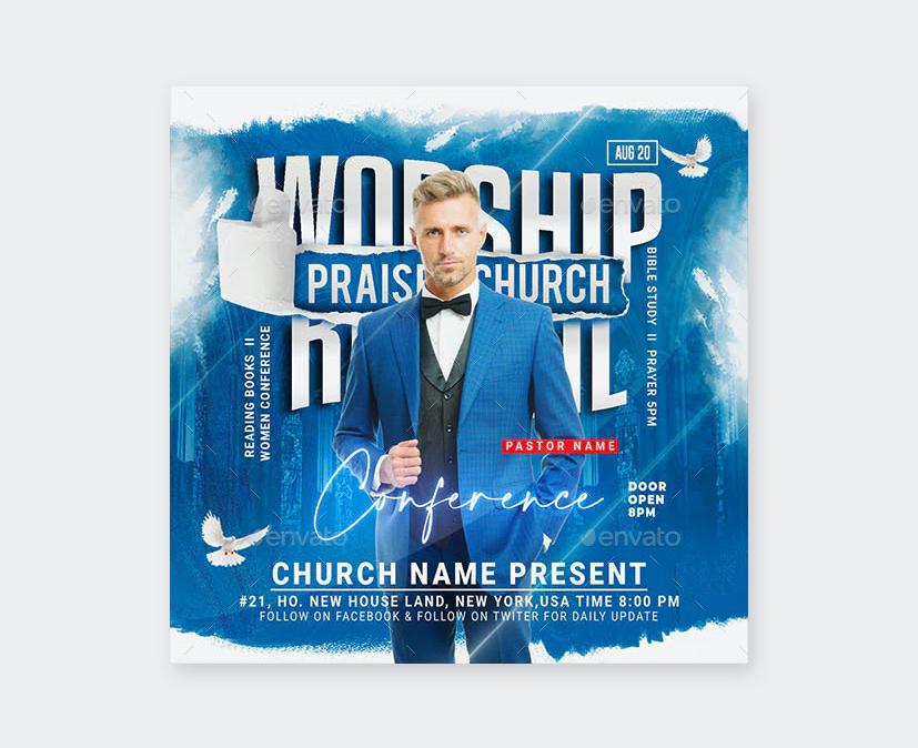 Worship Conference Flyer Design