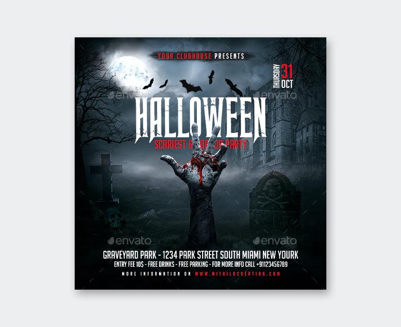 Zombie Halloween Flyer Template