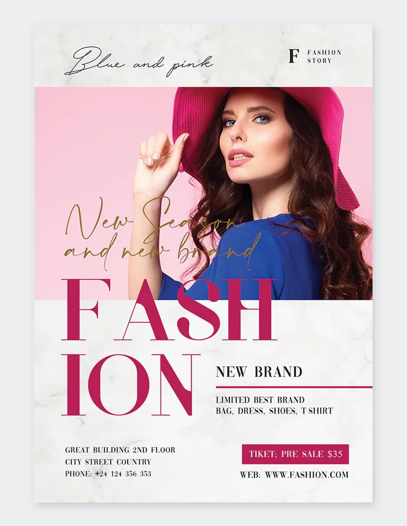 Beauty Fashion Flyer Template