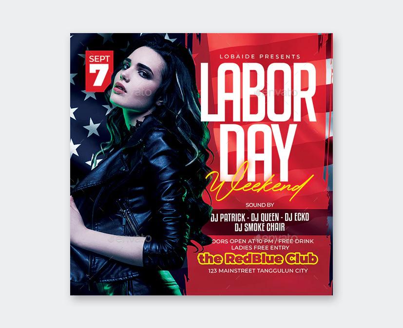 Elegant Labor Day Weekend Flyer Template