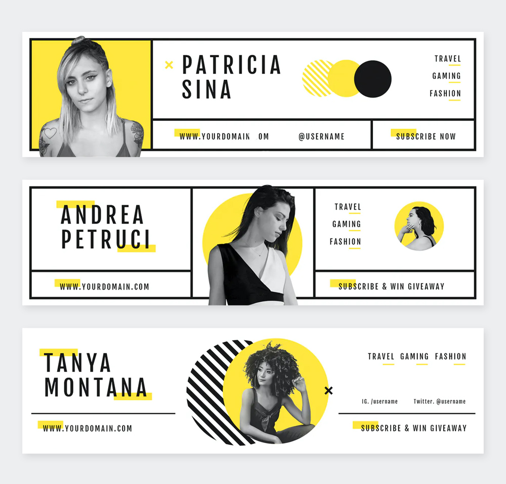 Fashion Youtube Channel Art PSD Templates
