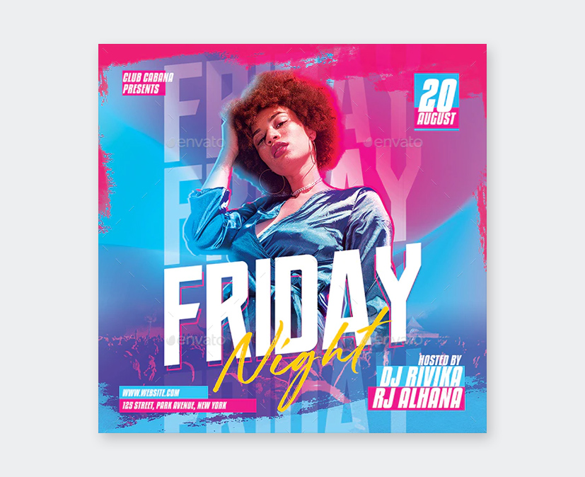 Friday Guest DJ Flyer Template