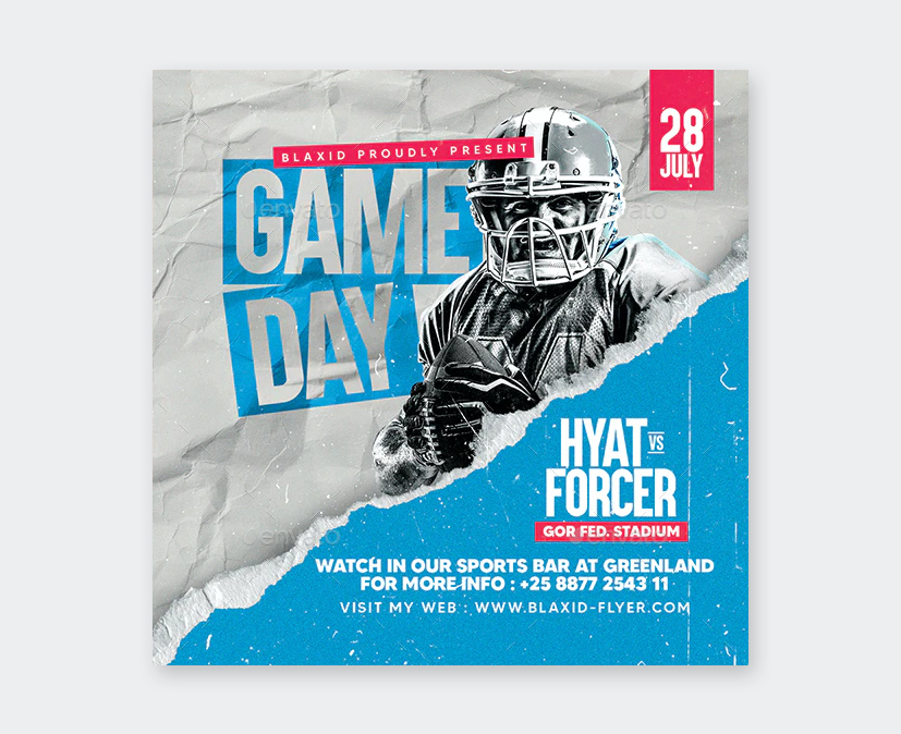 Game Day Football Flyer PSD