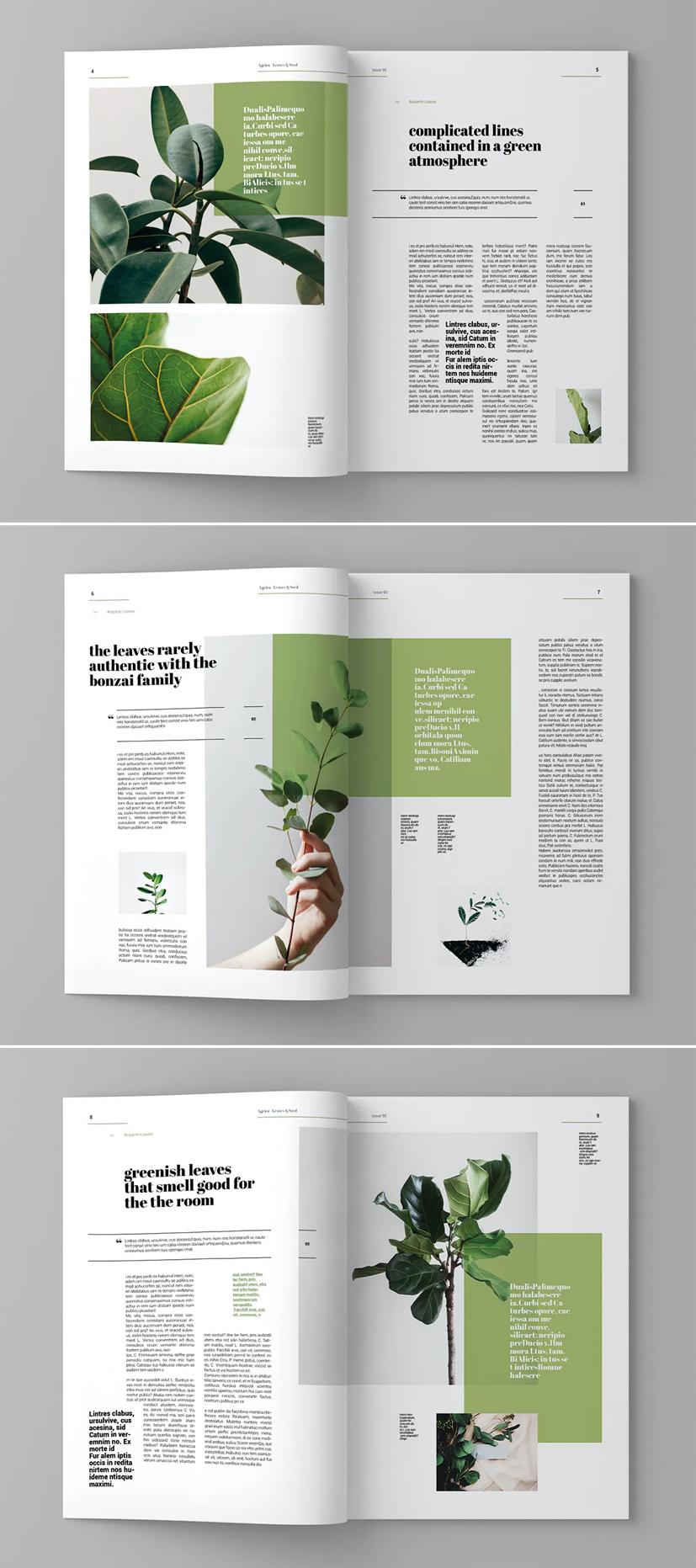 Green Plant Magazine Template