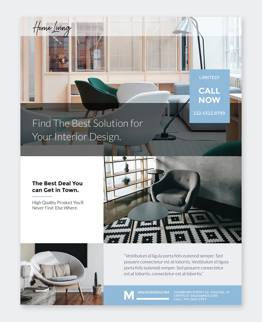 Modern Furniture Flyer Template