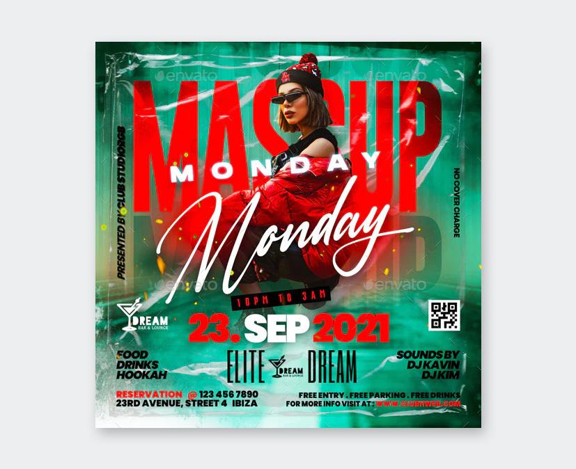 Monday Night Club Flyer Template