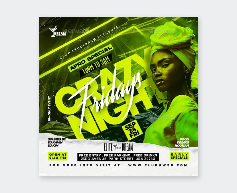 Night Club Flyer Template PSD