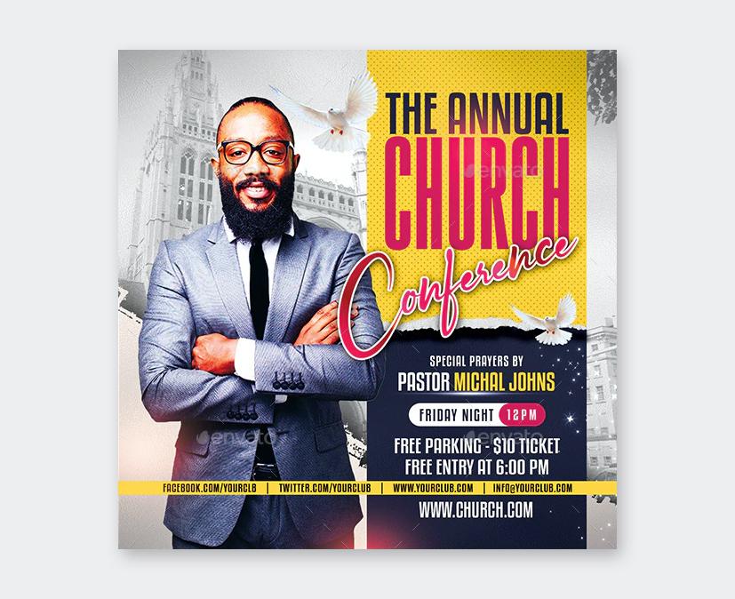 PSD Church Flyer Template