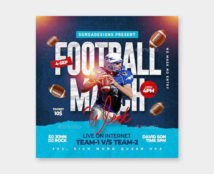 PSD Football Flyer Template