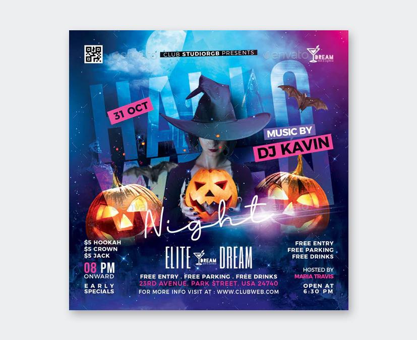 PSD Halloween Party Flyer Design