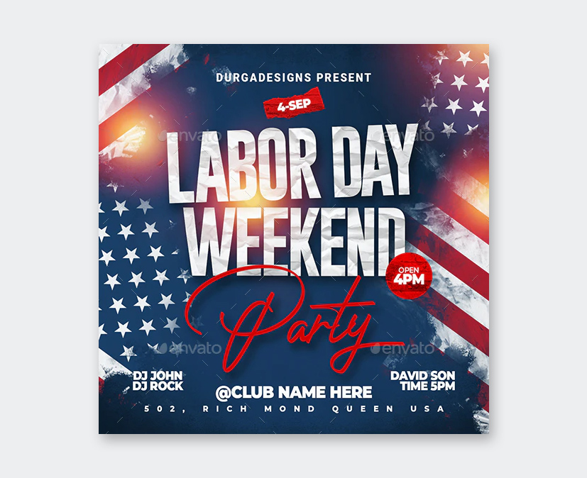 PSD Labor Day Flyer Template